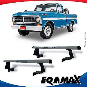 Rack Eqmax para Caçamba Ford F-100  Aluminio Prata