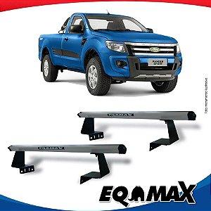 Rack Eqmax para Caçamba Ford Ranger Cabine Simples 13/16 Aluminio Prata