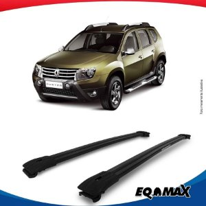 Big Travessa Larga Renault Duster Com Longarina Preto