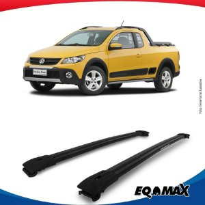 Big Travessa Larga Volkswagen Saveiro Cross Com Longarina Preto