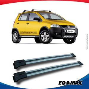 Big Travessa Larga Volkswagen Cross Fox Com Longarina Prata