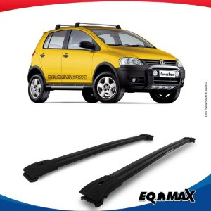 Big Travessa Larga Volkswagen Cross Fox Com Longarina Preto