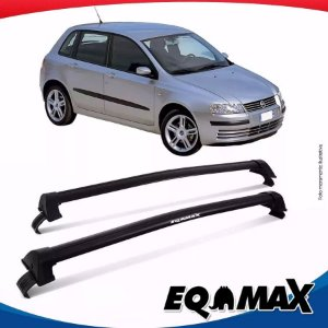 Rack Teto Eqmax Fiat Stilo 03/12 Bagageiro New Wave Preto