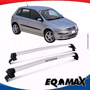 Rack de Teto  Eqmax Fiat Stilo 03/12 Bagageiro New Wave Prata