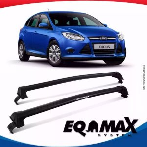Rack Teto Eqmax New Wave Ford Focus Hatch 14/16 Prata