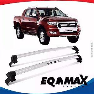 Rack Teto Eqmax New Wave Ford Ranger Cab Dupla 15/16 Prata
