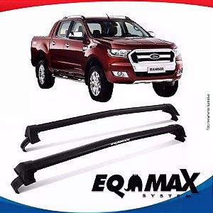 Rack de Teto  Eqmax New Wave Ford Ranger Cab Dupla 15/16 Preto