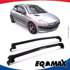 Rack Teto Eqmax New Wave Peugeot 206 Hatch 2 Pts 99/10 Prata