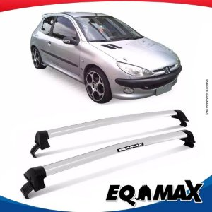 Rack Teto Eqmax New Wave Peugeot 206 Hatch 2 Pts 99/10 Preto