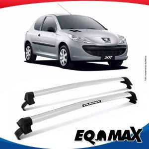 Rack Teto Eqmax New Wave Peugeot 207 Hatch 2 Portas 08/15 Prata