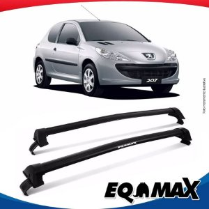 Rack Teto Eqmax New Wave Peugeot 207 Hatch 2 Portas 08/15 Preto
