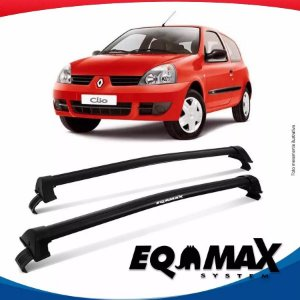 Rack Teto Eqmax New Wave Renault Clio Hatch 2pts 00/16 Preto