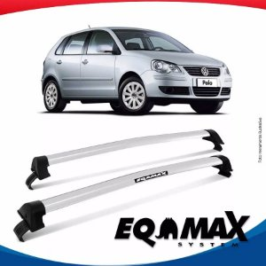 Rack Teto Eqmax New Wave Vw Polo Hatch 4 portas 03/14 Prata
