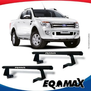 Rack Eqmax para Caçamba Ford Ranger Cabine Dupla 13/16 Aluminio Preto