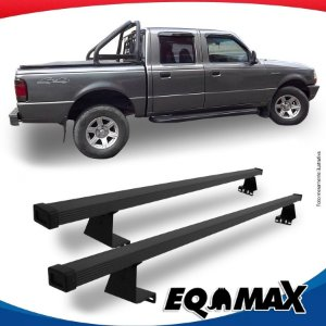 Rack Eqmax para Caçamba Ford Ranger Cabine Dupla 08/12 Aço