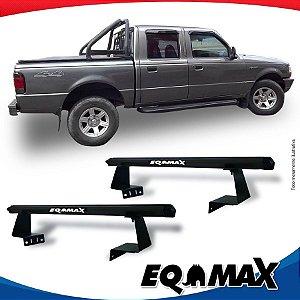 Rack Eqmax para Caçamba Ford Ranger Cabine Dupla 08/12 Aluminio Preto