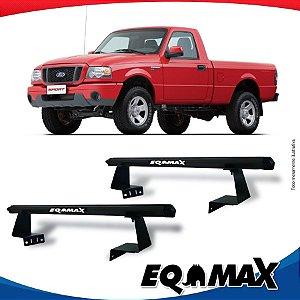 Rack Eqmax para Caçamba Ford Ranger Cabine Simples 96/11 Aluminio Preto