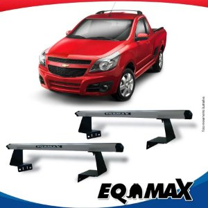 Rack Eqmax para Caçamba Chevrolet Tornado Aluminio Prata