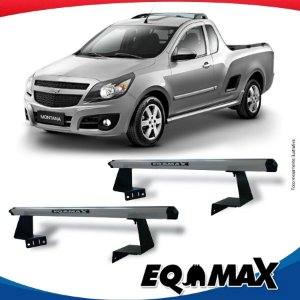Rack Eqmax para Caçamba Chevrolet Montana Aluminio Prata