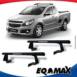 Rack Eqmax para Caçamba Chevrolet Montana Aluminio Preto