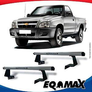 Rack Eqmax para Caçamba Chevrolet S10 Cabine Simples 94/11 Aluminio Prata