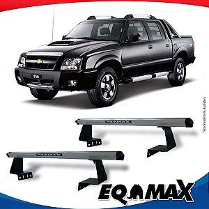 Rack Eqmax para Caçamba Chevrolet S10 Cabine Dupla 94/11 Aluminio Prata