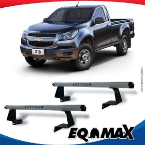 Rack Eqmax para Caçamba Chevrolet S10 Cabine Simples 12/... Aluminio Prata