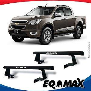 Rack Eqmax para Caçamba Chevrolet S10 Cabine Dupla 12/... Aluminio Preto