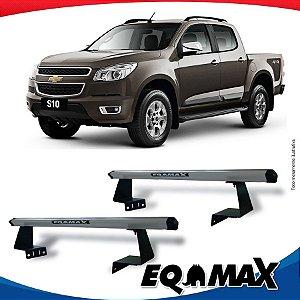 Rack Eqmax para Caçamba Chevrolet S10 Cabine Dupla 12/... Aluminio Prata