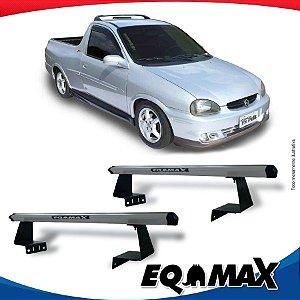 Rack Eqmax para Caçamba Chevrolet Corsa Pick Up Aluminio Prata