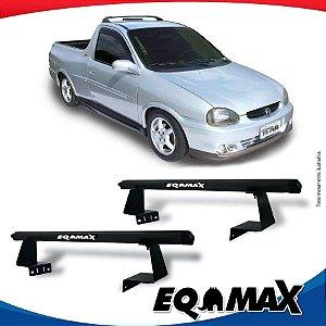 Rack Eqmax para Caçamba Chevrolet Corsa Pick Up Aluminio Preto