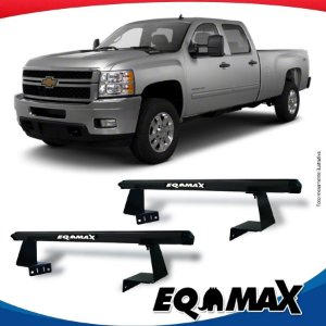 Rack Eqmax para Caçamba Chevrolet Silverado Aluminio Preto