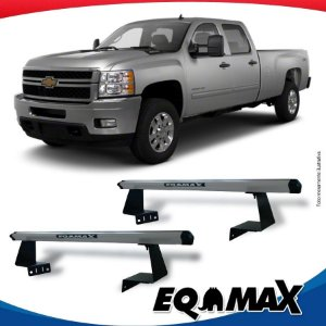 Rack Eqmax para Caçamba Chevrolet Silverado Aluminio Prata