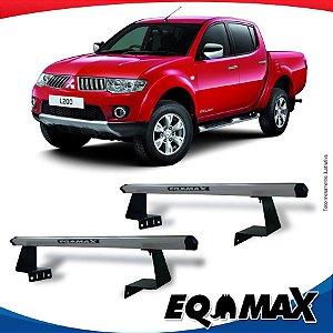 Rack Eqmax para Caçamba Mitsubishi L200 Triton Aluminio Prata