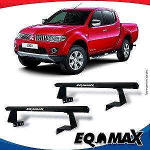 Rack Eqmax para Caçamba Mitsubishi L200 Triton Aluminio Preto