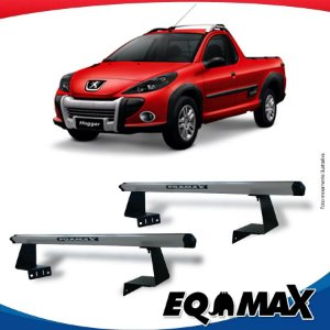Rack Eqmax para Caçamba Peugeot Hoggar Aluminio Prata