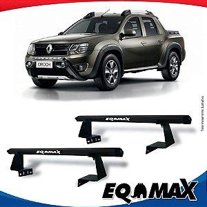 Rack Eqmax para Caçamba Renault Oroch Aluminio Preto