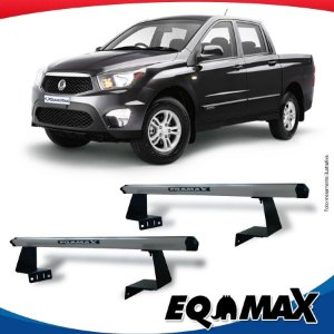 Rack Eqmax para Caçamba Ssangyong Actyon Sport Aluminio Prata
