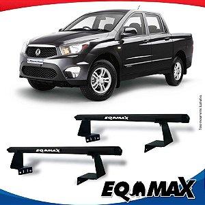 Rack Eqmax para Caçamba Ssangyong Actyon Sport Aluminio Preto