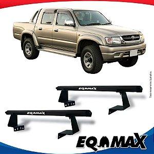 Rack Eqmax para Caçamba Toyota Hilux 88/04 Aluminio Preto