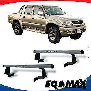 Rack Eqmax para Caçamba Toyota Hilux 88/04 Aluminio Prata