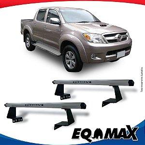 Rack Eqmax para Caçamba Toyota Hilux 05/15 Aluminio Prata