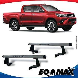Rack Eqmax para Caçamba Toyota Hilux 16/... Aluminio Prata