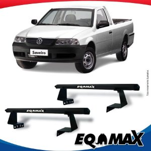 Rack Eqmax para Caçamba Volkswagen Saveiro G3 99/05 Aluminio Preto