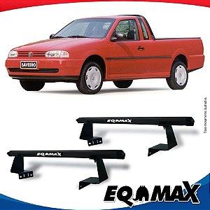 Rack Eqmax para Caçamba Volkswagen Saveiro G2 97/99 Aluminio Preto