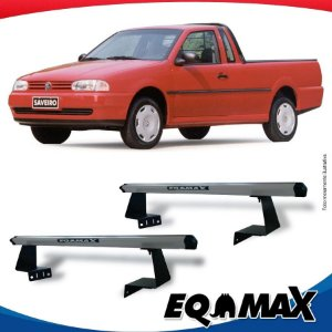 Rack Eqmax para Caçamba Volkswagen Saveiro G2 97/99 Aluminio Prata