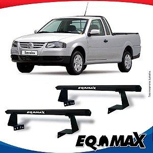Rack Eqmax para Caçamba Volkswagen Saveiro  G4 06/08 Aluminio Preto