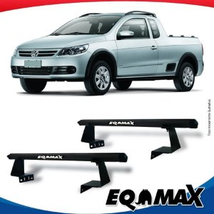 Rack Eqmax para Caçamba Volkswagen Saveiro G5 08/13 Aluminio Preto