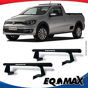 Rack Eqmax para Caçamba Volkswagen Saveiro G6 13/.. Aluminio Preto
