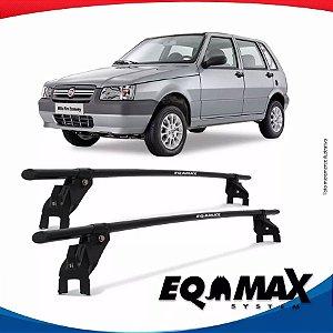 Rack Aço Teto Eqmax Fiat Uno Mille 4 Pts 05/13